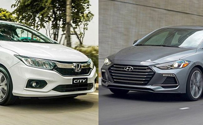 So sánh Honda City TOP và Hyundai Elantra 1.6AT